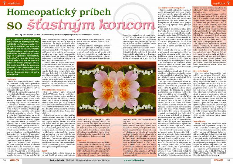 homeopatický príbeh so šťastným koncom