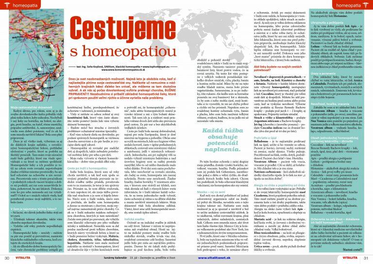 Cestujeme s homeopatiou - homeopatické lieky