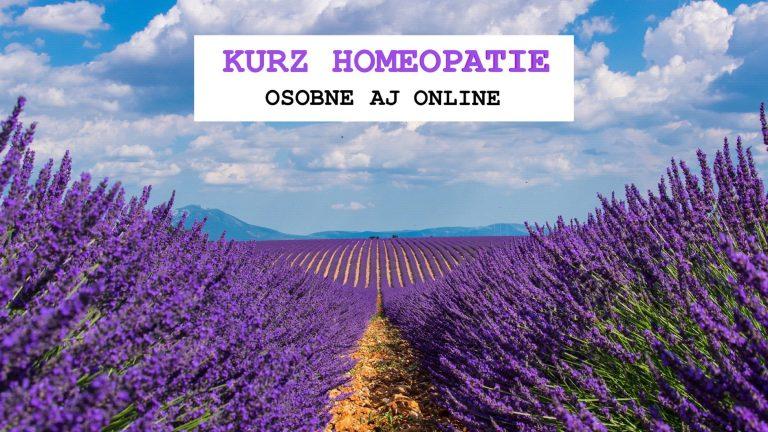 kurz homeopatie osobne aj online