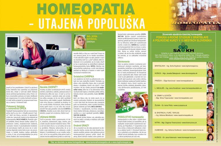 Homeopatia - utajená Popoluška (jeseň)