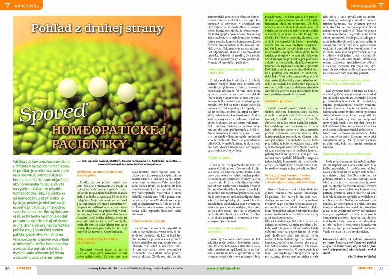 pohľad z druhej strany - spoveď homeopatickej pacientky