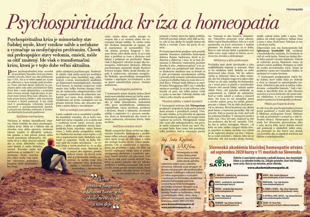 Psychospirituálna kríza a homeopatia